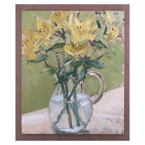 "Yellow Lily Study. 12x10"""