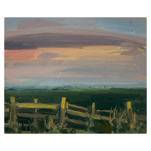 """By the fence. 12x10"""""""