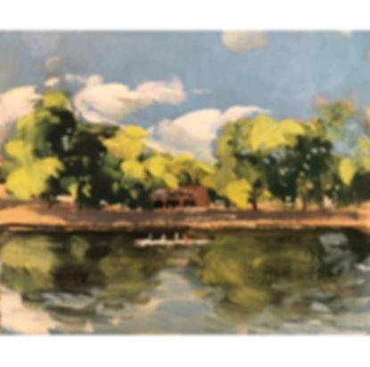 Rowers, Dominic Parczuk, Artist, Painter, Lincolnshire