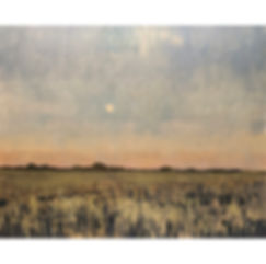 Moon at Dusk, Dominic Parczuk, Artist, Painter, Lincolnshire