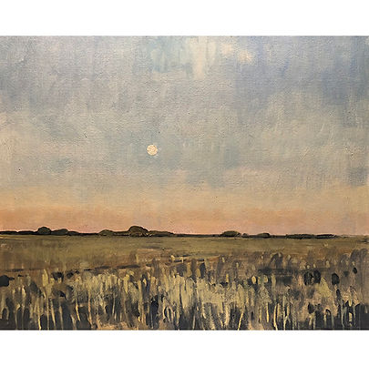Moon at Dusk, Dominic Parczuk, Artist, Painter, Lincolnshire