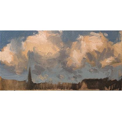 cloud study, Dominic Parczuk, Artist, Painter, Lincolnshire