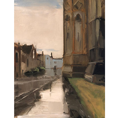 Wet Pavement South, Dominic Parczuk, Artist, Painter, Lincolnshire