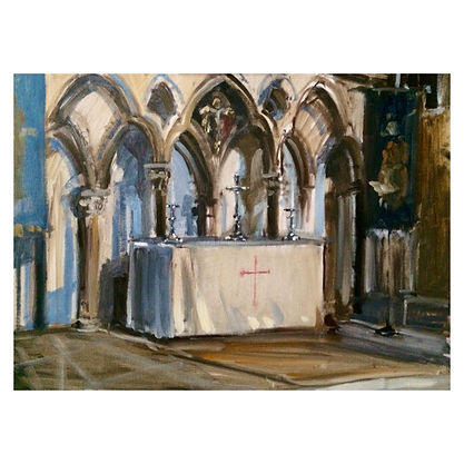 St Hughs Choir, Dominic Parczuk, Artist, Painter, Lincolnshire, Cathedral painting