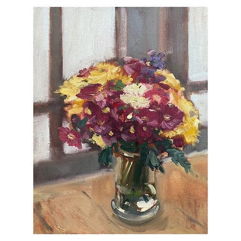"""Floral Still Life. 10x14"""""""