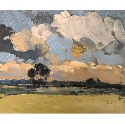 Autumn Clouds, Dominic Parczuk, Artist, Painter, Lincolnshire