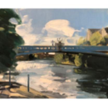 York Ouse Bridge, Dominic Parczuk, Artist, Painter, Lincolnshire