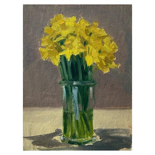 "Daffodils . 9x12"""