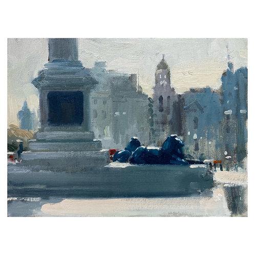 """Trafalgar Square. 12x16"""""""