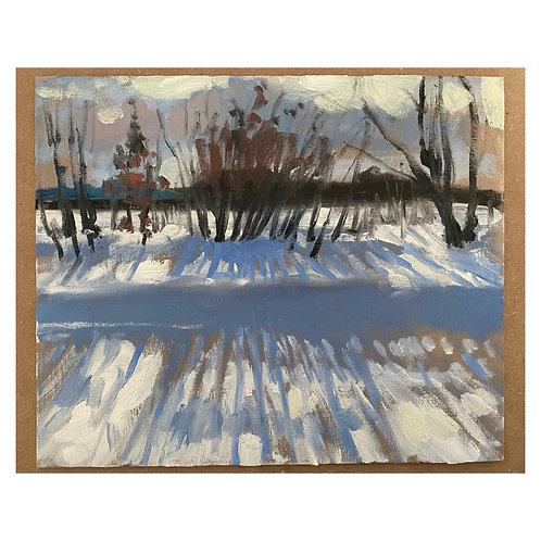 """Snow Shadows. 12x10"""""""
