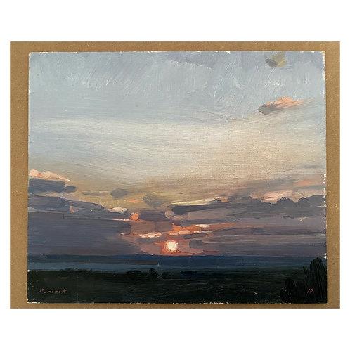 "Sunset. 12x10"""