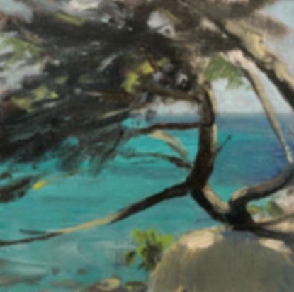 aqua blue , Dominic Parczuk, Artist, Painter, Lincolnshire
