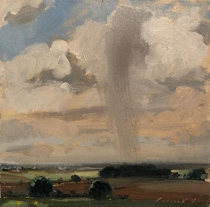 Rain Shower, Dominic Parczuk, Artist, Painter, Lincolnshire, Cloud paintings