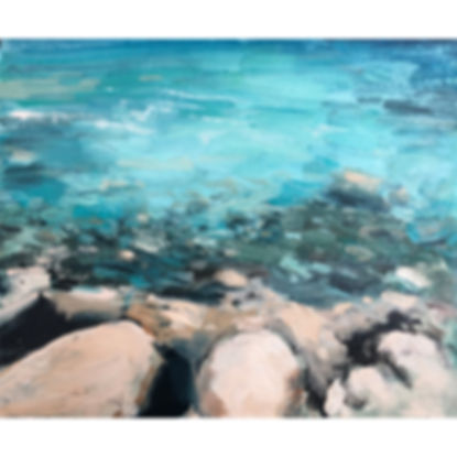 Shallows, Dominic Parczuk, Artist, Painter, Lincolnshire, water painting
