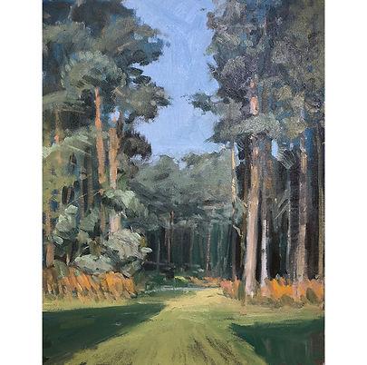 Pines, Dominic Parczuk, Artist, Painter, Lincolnshire