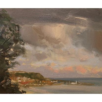 Seaside evening , Dominic Parczuk, Artist, Painter, Lincolnshire