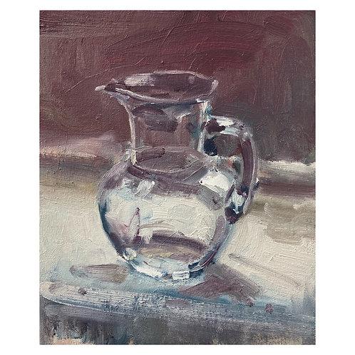"""Glass Jug. 12x10"""""""