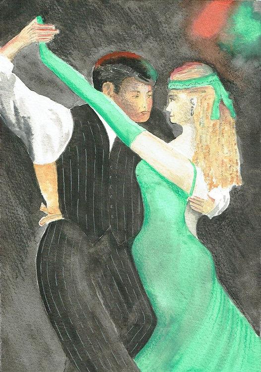 Stripes & Green Tango