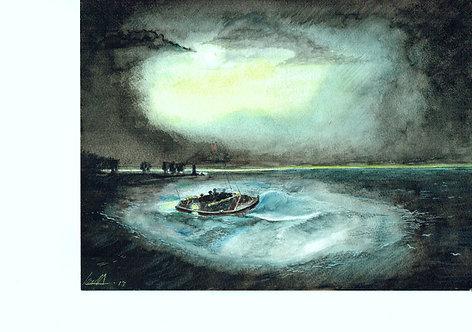 Fishermen at sea      (After JMW Turner)
