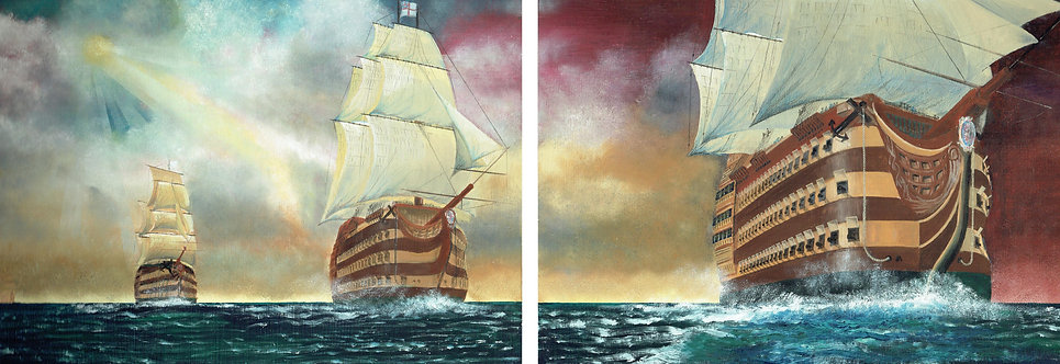 Thunder on the Sea (Diptych)