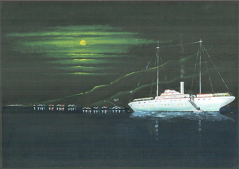 Moored in Moonlit Bay