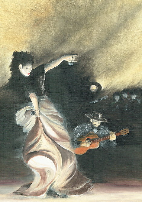 Gypsy Castanets (After Singer Sargent)