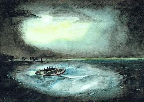 Fishermen at Sea (After Turner)