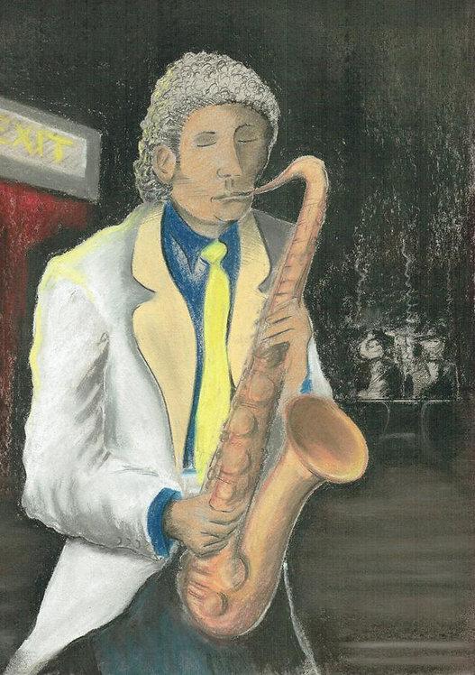 Cool tenor sax