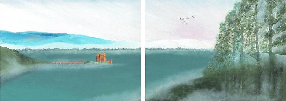 Loch in the Mist (Diptych)