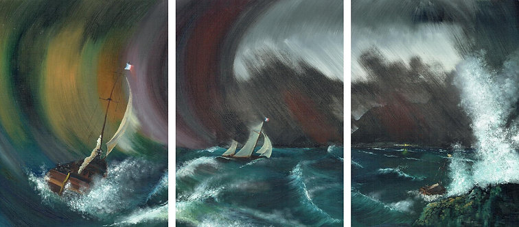 Running before the Storm (Triptych)