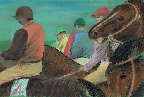 Before the off ( After Degas)