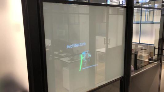 זכוכית חכמה הקרנה אחורית - משרדים BE ALL
