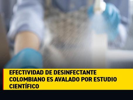 Boletin Notired 25Jun2020 -  Desinfectante Colombiano puede erradicar el coronavirus en 60 segundos