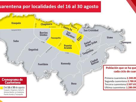 Boletin Notired 14Ago20 - Estas son las localidades que entrarán a cuarentena este fin de semana en
