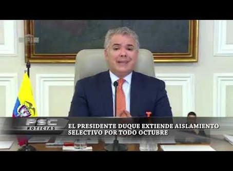 Boletin Notired 30Sep20 -  'Aislamiento selectivo se extiende durante todo octubre': Duque