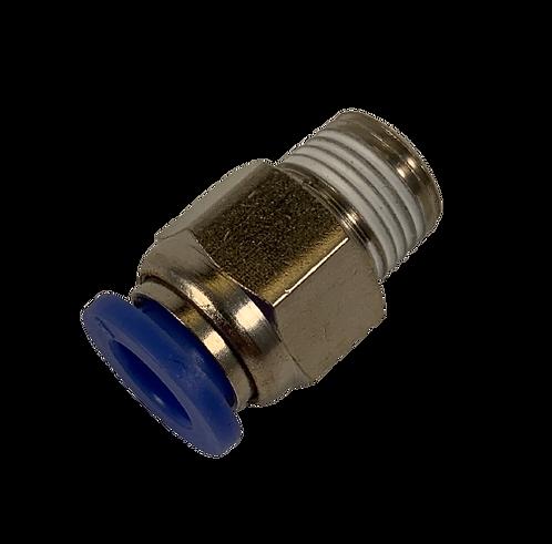 Air Fitting - Straight 6mm Tubing x 1/8 PT Thread