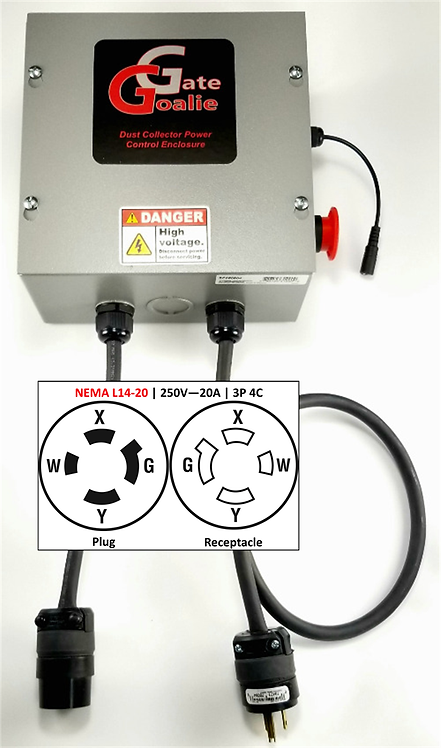 NEMA L14-20 | 250V - 20A | 3Pole 4Conductor | Twist Lock