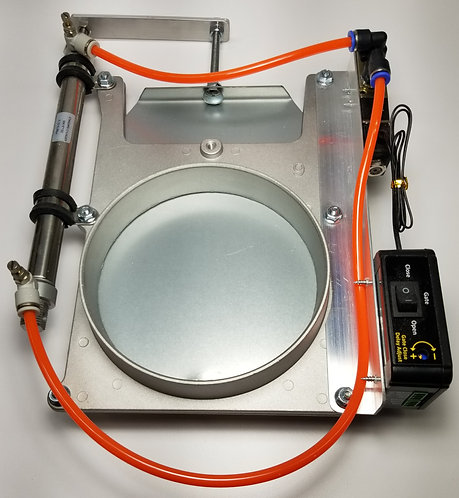 Blast Gate - Aluminum - 6 Inch w/Pneumatics