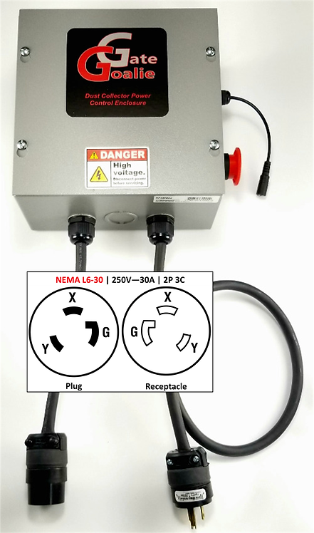 NEMA L6-30 | 250V - 30A | 2Pole 3Conductor | Twist Lock