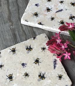 Bee & Lavender Coasters