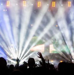 コンサート中にライトを点滅