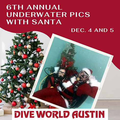 Underwater Photos with Santa