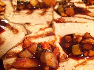 Pan Grilled Tofu & Hot Pepper Korean Glaze