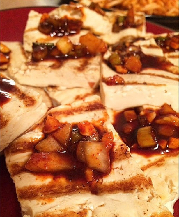 Pan Grilled Tofu and Hot Pepper Korean Glaze Recipe