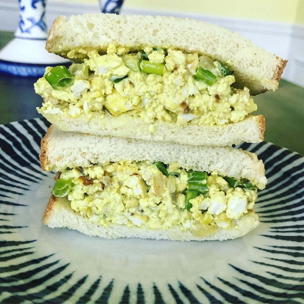 Healthy Vegan Tofu Salad Sandwich
