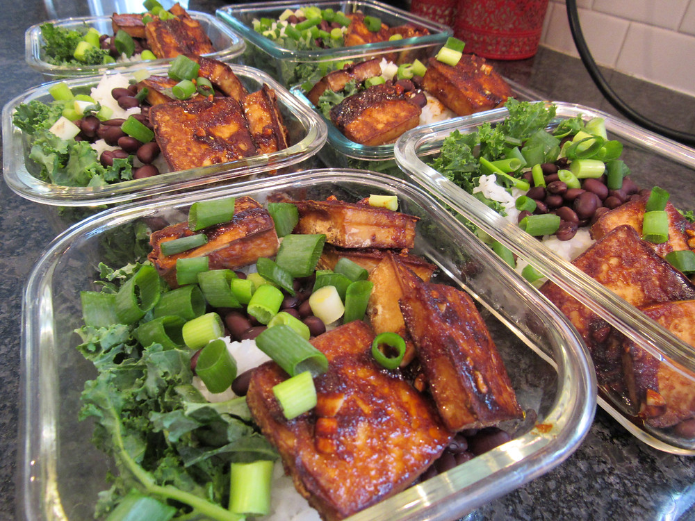Vegan Korean Glazed Baked Tofu Meal Prep Healthy