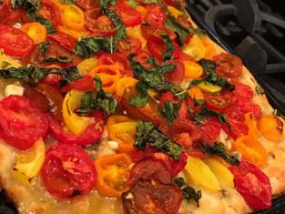 Simple Mediterranean Tomato Medley Flatbread