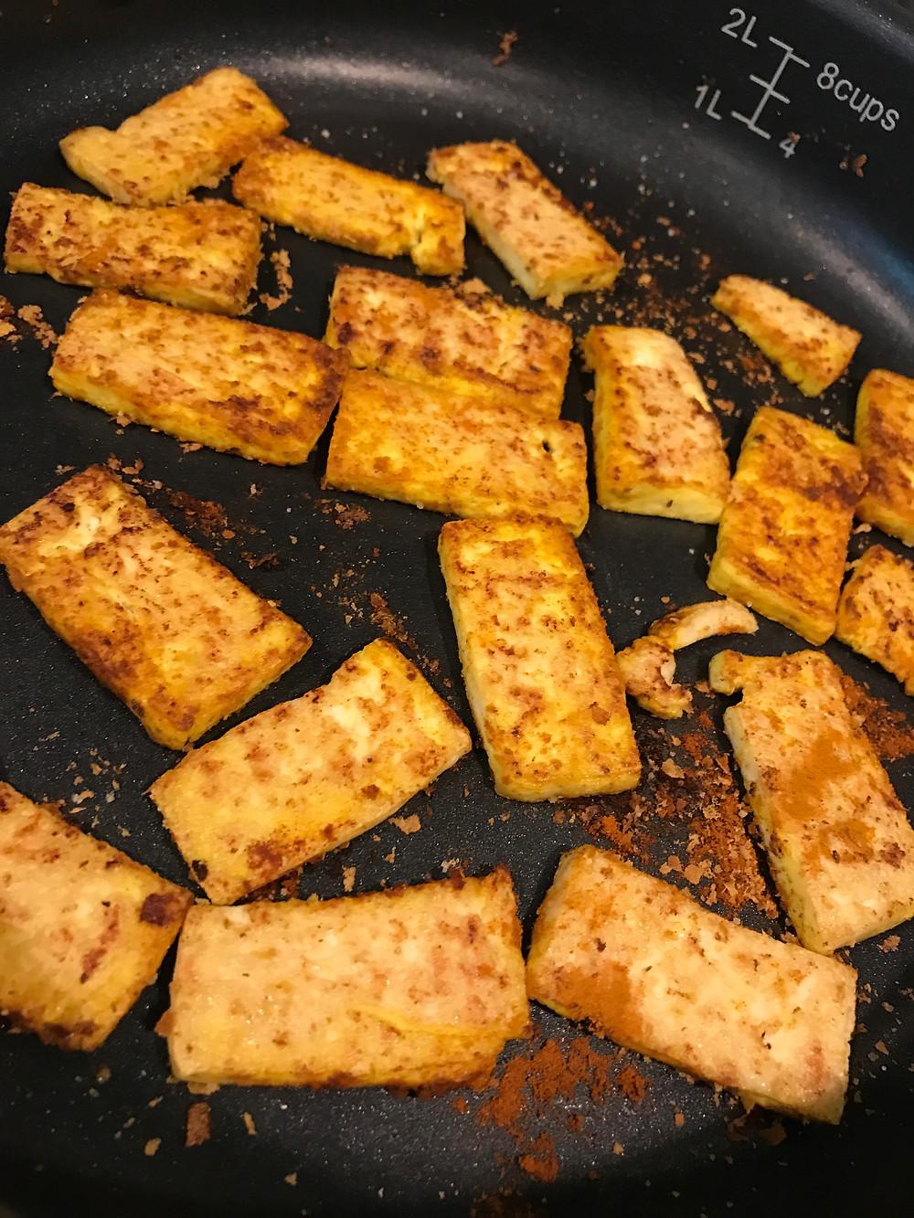 Healthy Vegan Breakfast Tofu Cooking