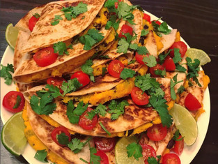 Super Healthy Sweet Potato & Black Bean Quesadillas