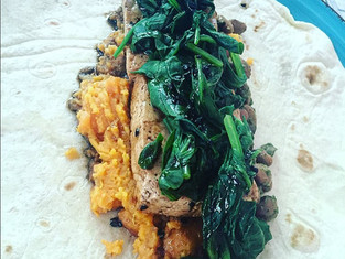 Balsamic Sweet Potato & Tofu Burrito